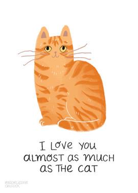 Ginger Cat Card