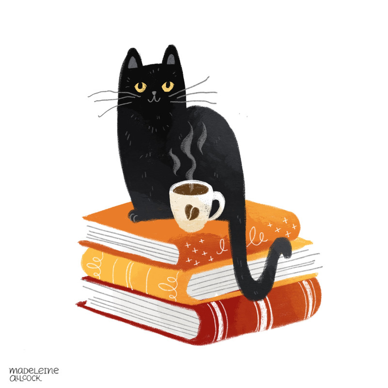 Cats, Books, Coffee