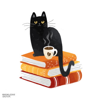 Three books worth curling up with: Cute and colourful black cat illustrations