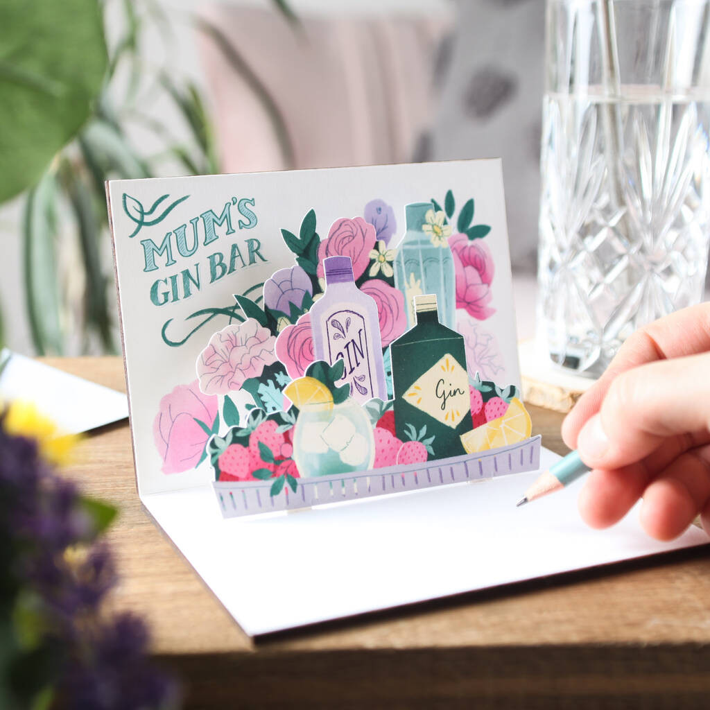 Gin Bar Pop Up Card