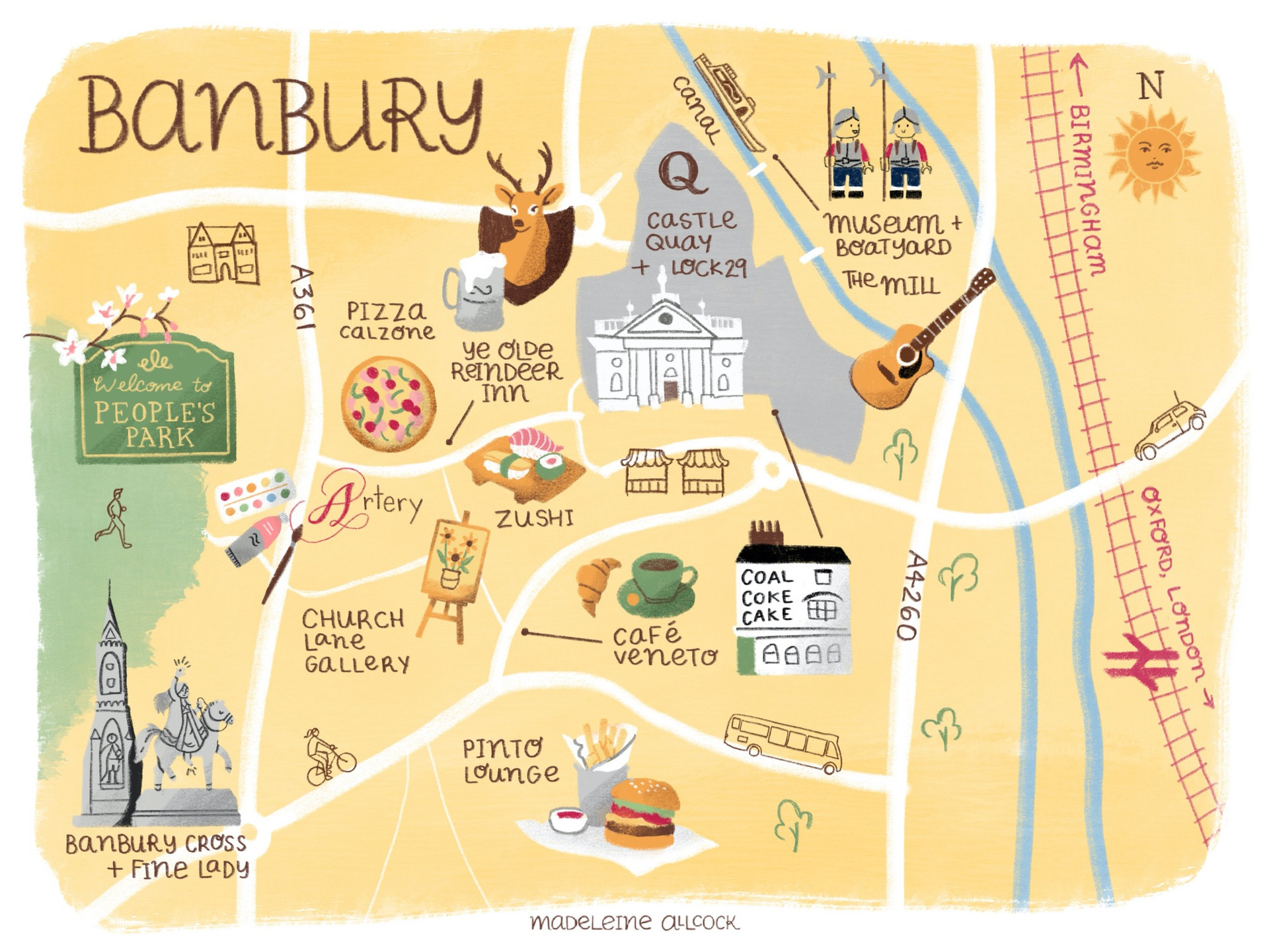 Map of Banbury