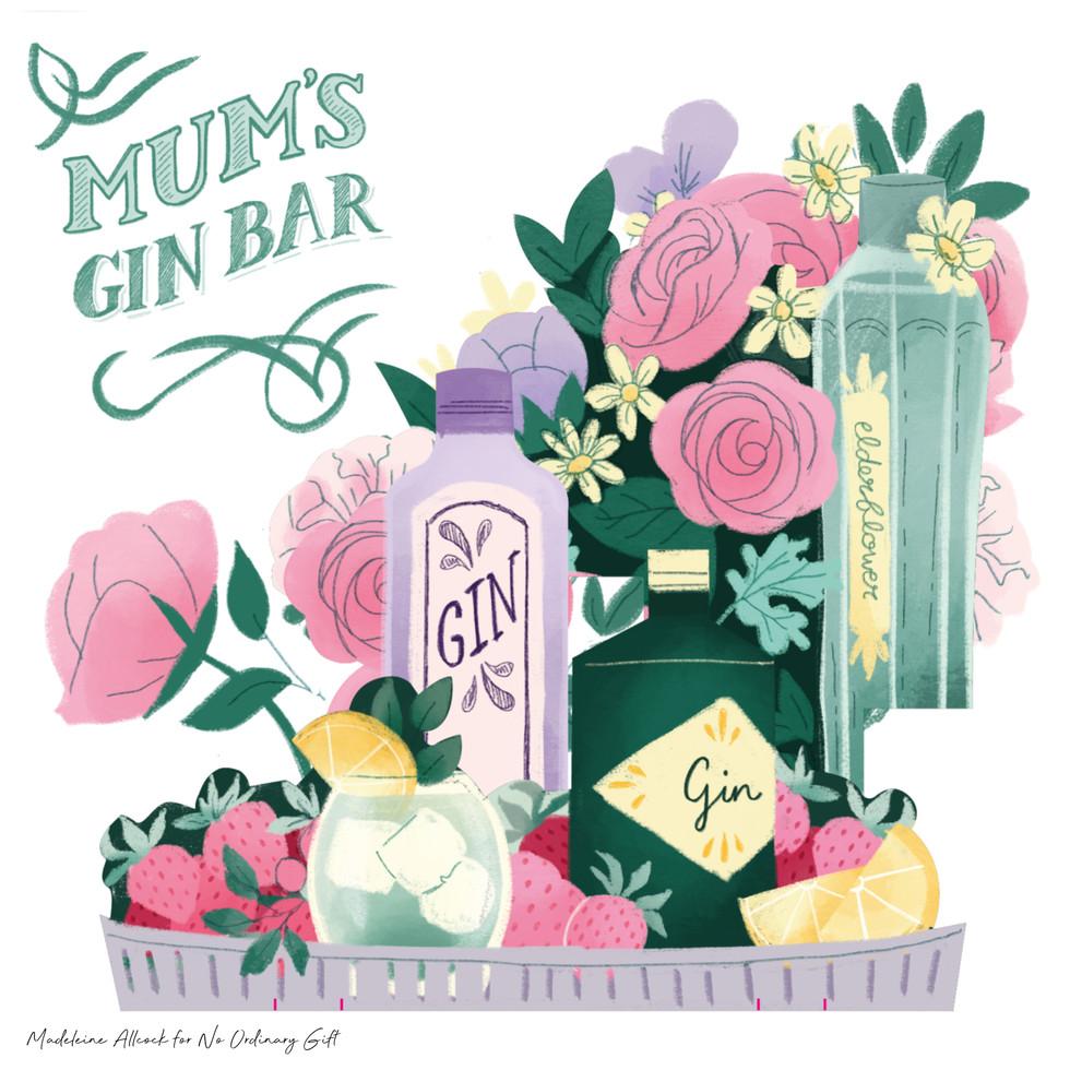 Gin Bar Illustration