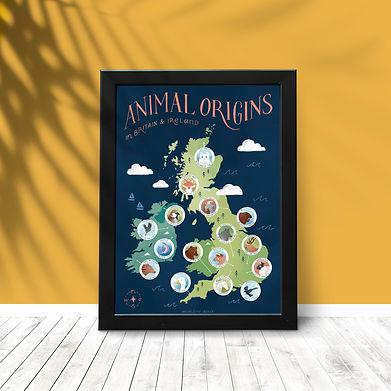 Animal Origins Map Frame