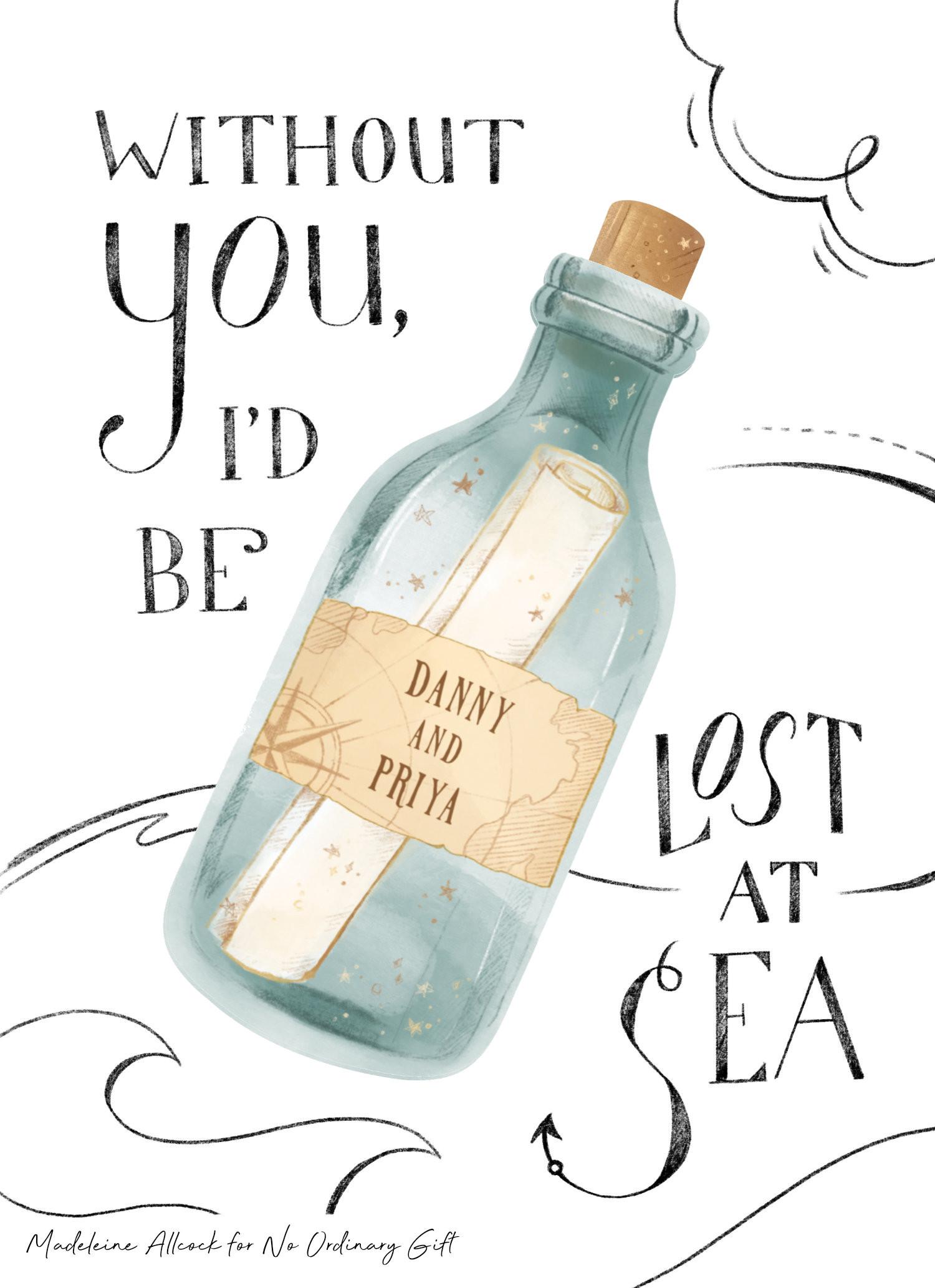 Lost at Sea Card