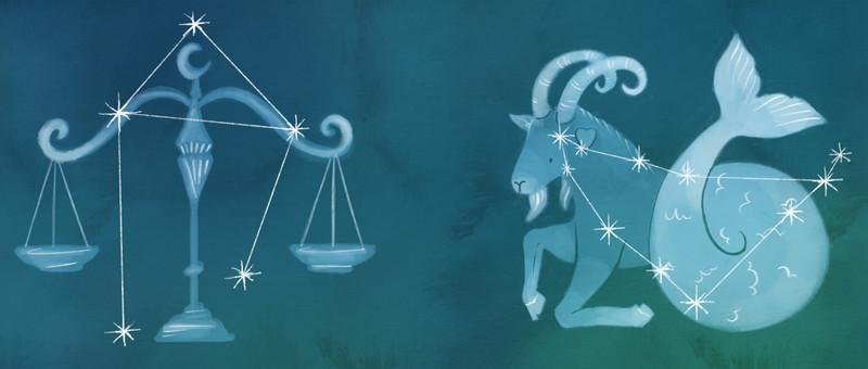 Libra and Capricorn