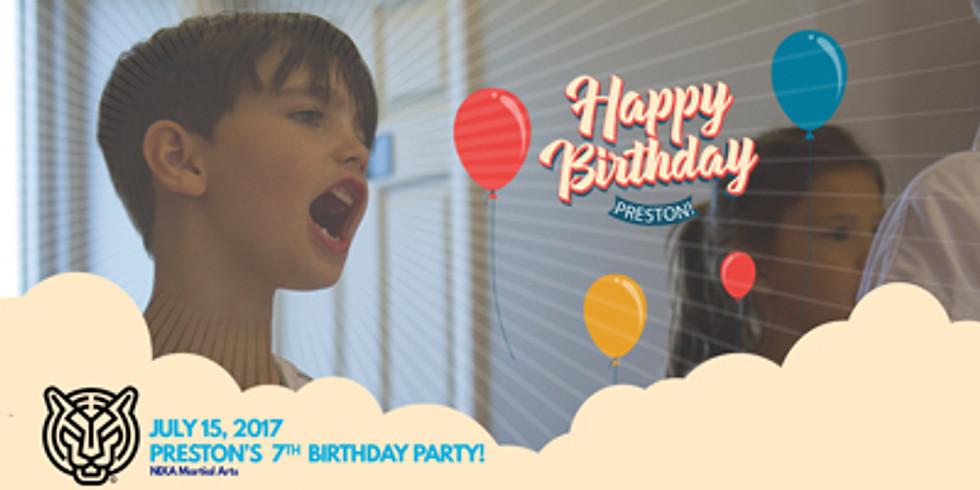 Preston's 7th Birthday Party!
