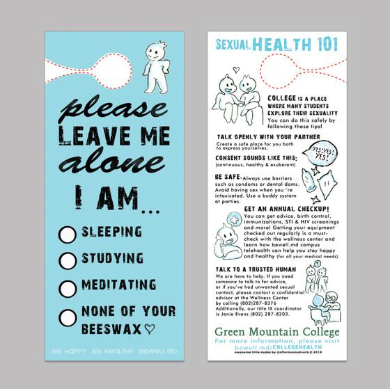 #SexualHealth101 Health Promotion Door Hangers