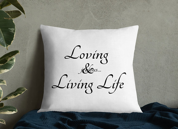 A Life Style Jealous... Logo Premium Pillow