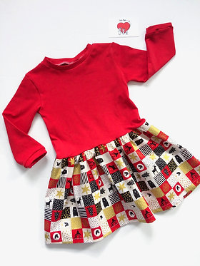 Christmas Block Dress