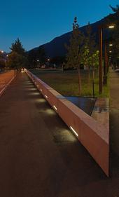 Tirano - Piazza Unità d'Italia - Notturno