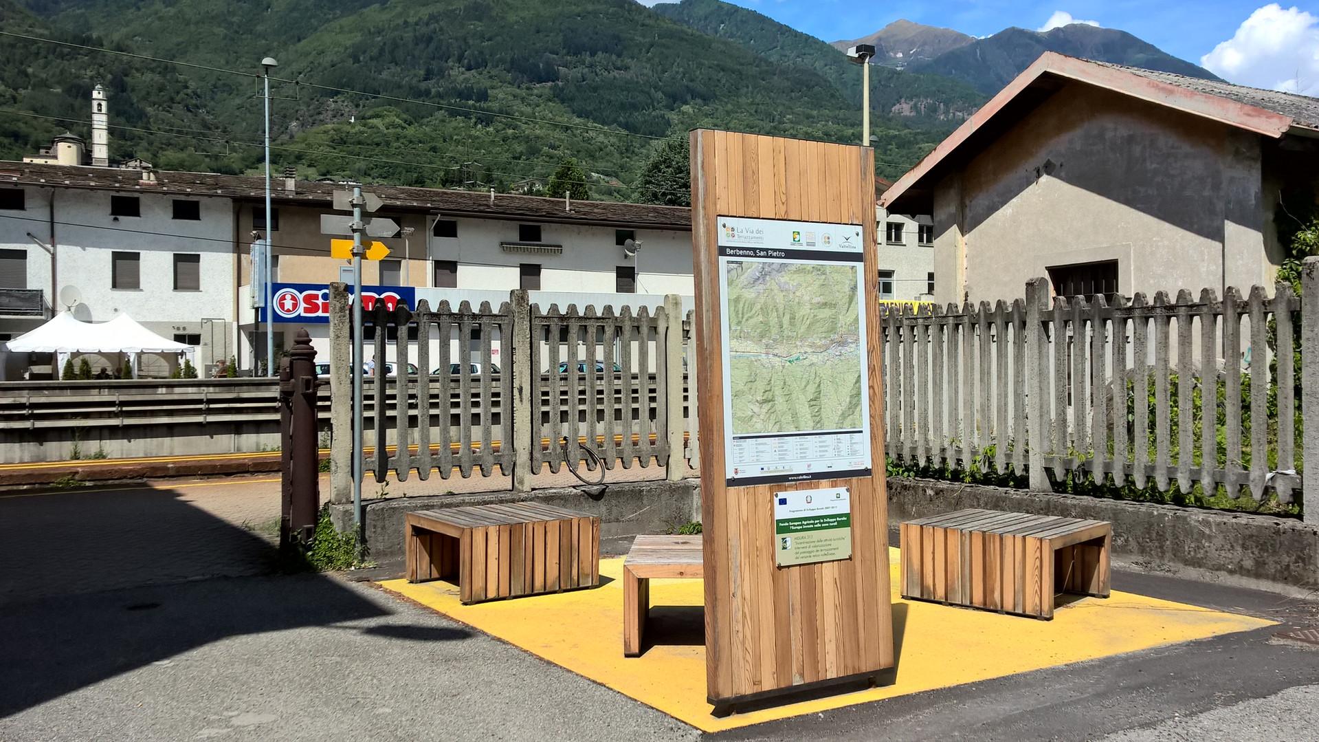 Area di sosta - Berbenno di Valtellina - Stazione