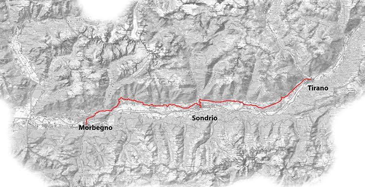 Sentiero dei terrazzamenti - percorso