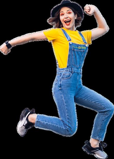 Animatrice en salopette Jean logo.png