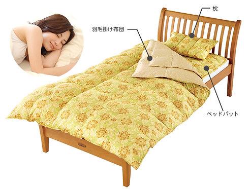 ホルミシス羽毛掛け布団0,3kg良質な眠りで身体を救う