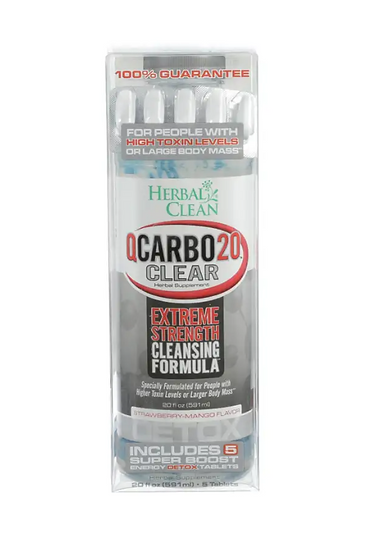 QCarbo20 Clear Extreme Strength Cleansing Formula