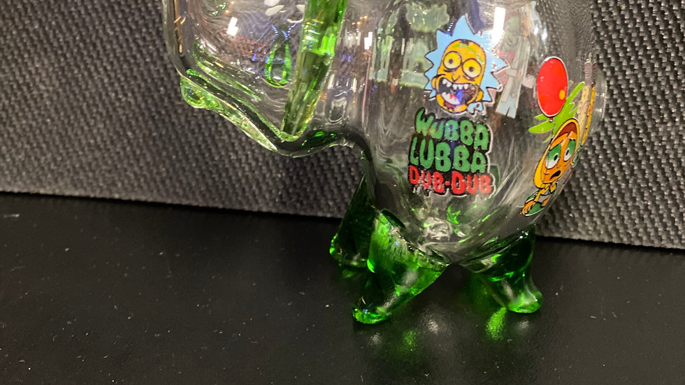 Elephant-Rick and Morty-Clear and Green