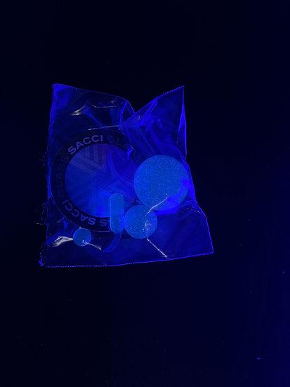 Terp Slurper Set UV Reactive-Clear/Blue