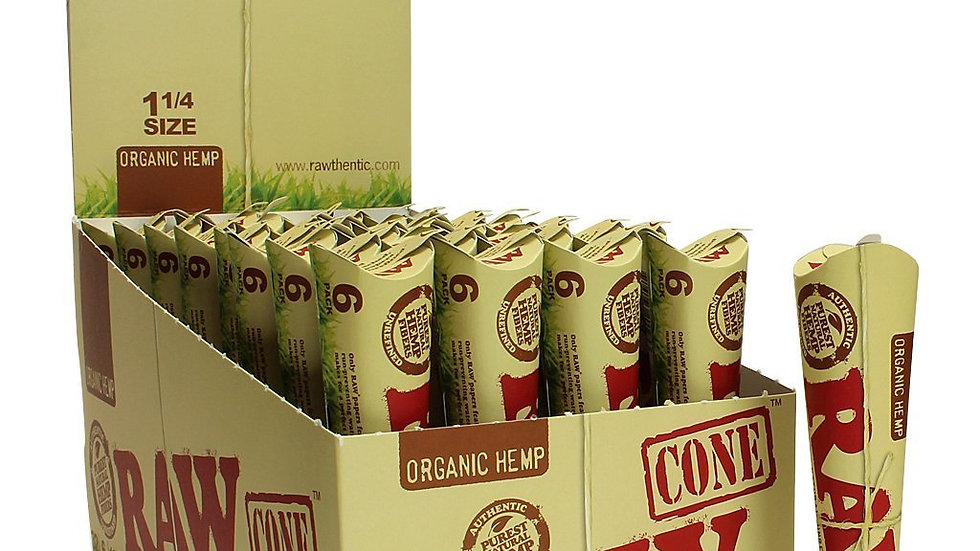 "Raw Organic Hemp Cones 6/1 1-1/4"""