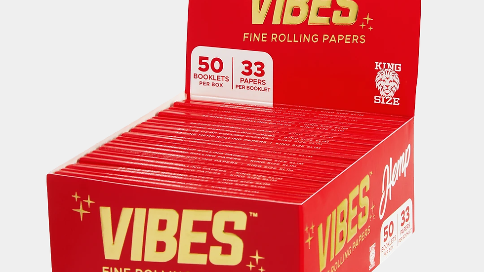 Vibes Papers + Tips King Size Hemp