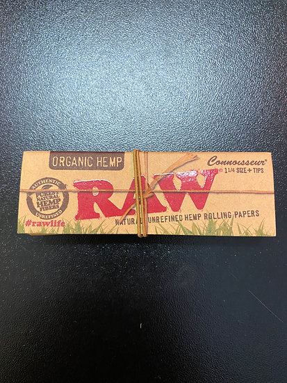 Raw Organic Hemp Connoisseur 1-1/4 + Tips
