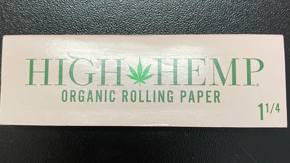 High Hemp Organic Rolling Papers 1-1/4
