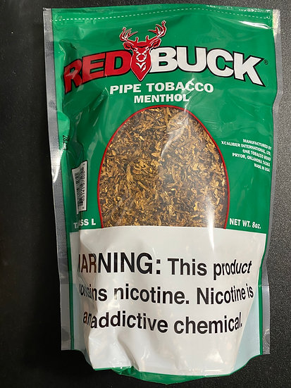 Red Buck Pipe Tobacco Menthol 8oz Bag