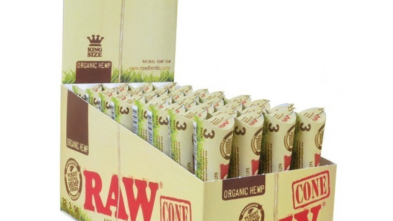 Raw Organic Cones King Size 3/1