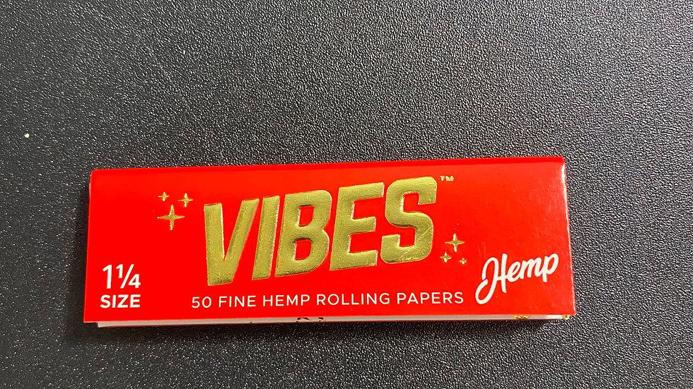 "50 Fine Hemp Vibes RollingPapers 1.25"""