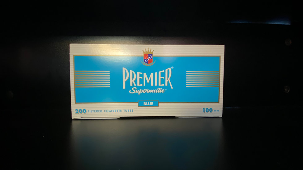 Premier Filtered Tubes Blue 100mm