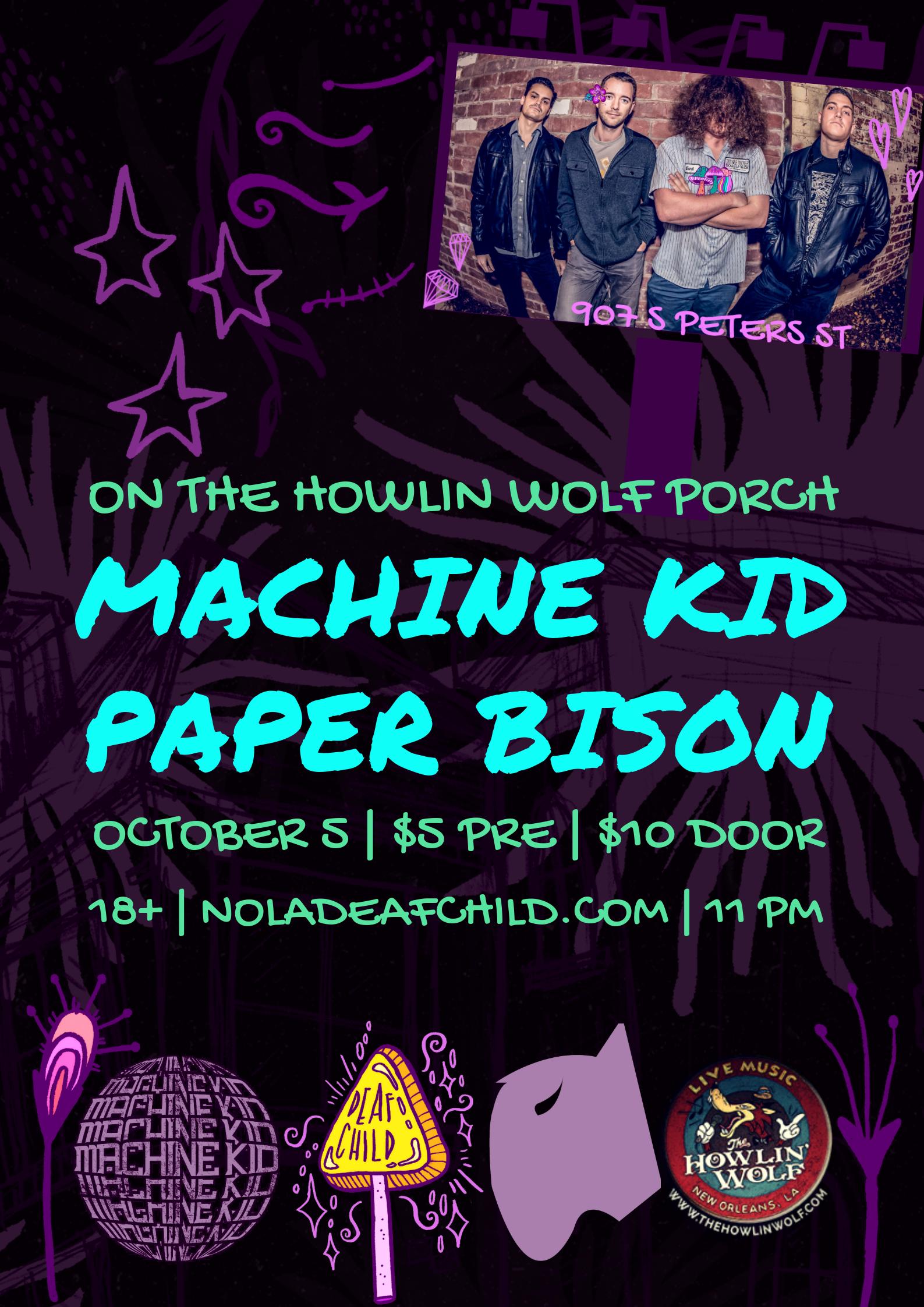 Paper Bison + Machine Kid 2018