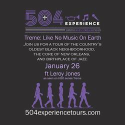 504 Experience Tours Leroy Jones 2017