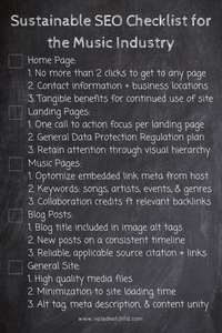 Sustainable Music Industry SEO Checklist