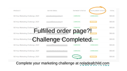 Fulfilled Order Page 2021