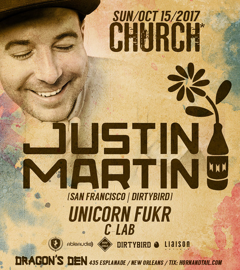 Justin Martin Bass Church Nola 2017