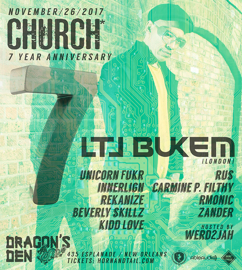 LTJ Bukem Church* Nola 7 Years 2017
