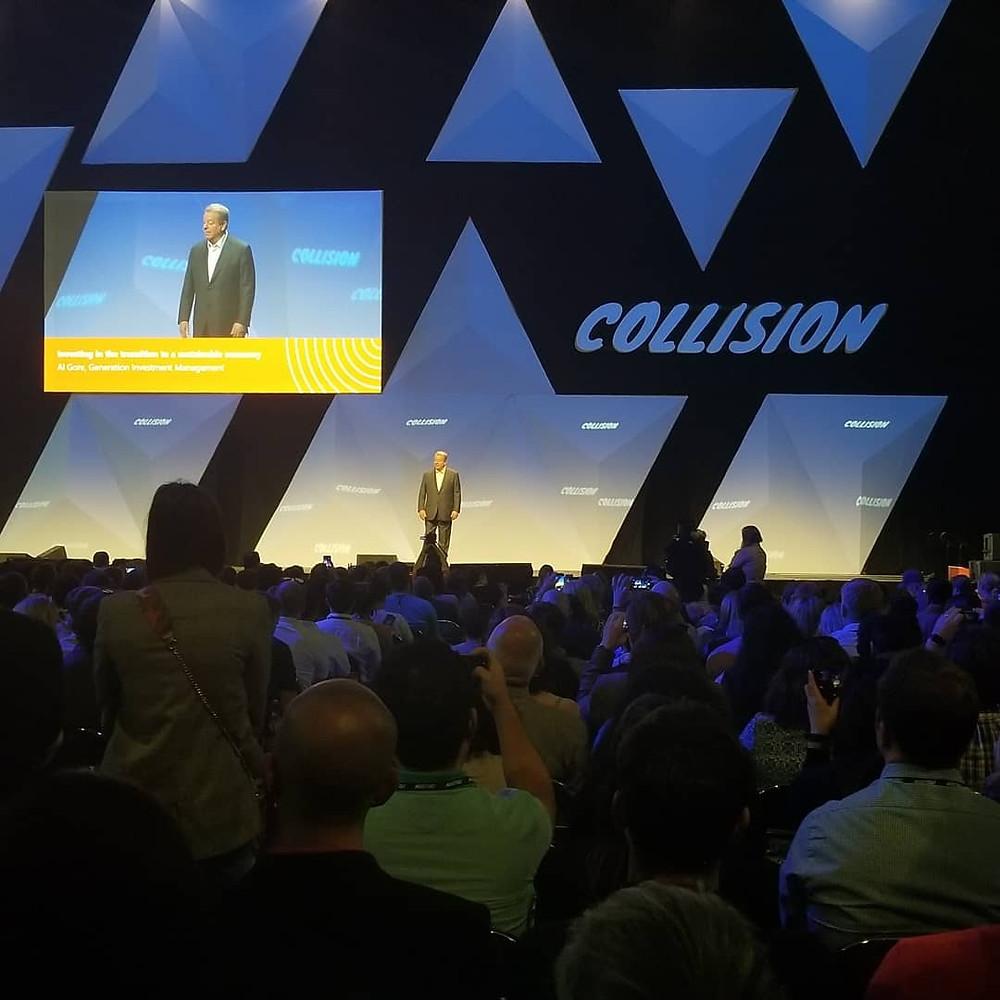 strategic reinvestment, Green the Scene, Al Gore, Collision tech conference
