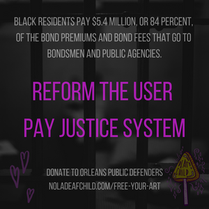 Reform the User Pay Justice System, User Pay Justice Coverage, New Orleans Street Team, Deaf Child Music Industry Blog, Free Your Art