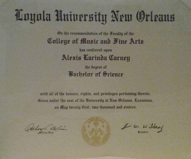 Loyola University New Orleans 2016