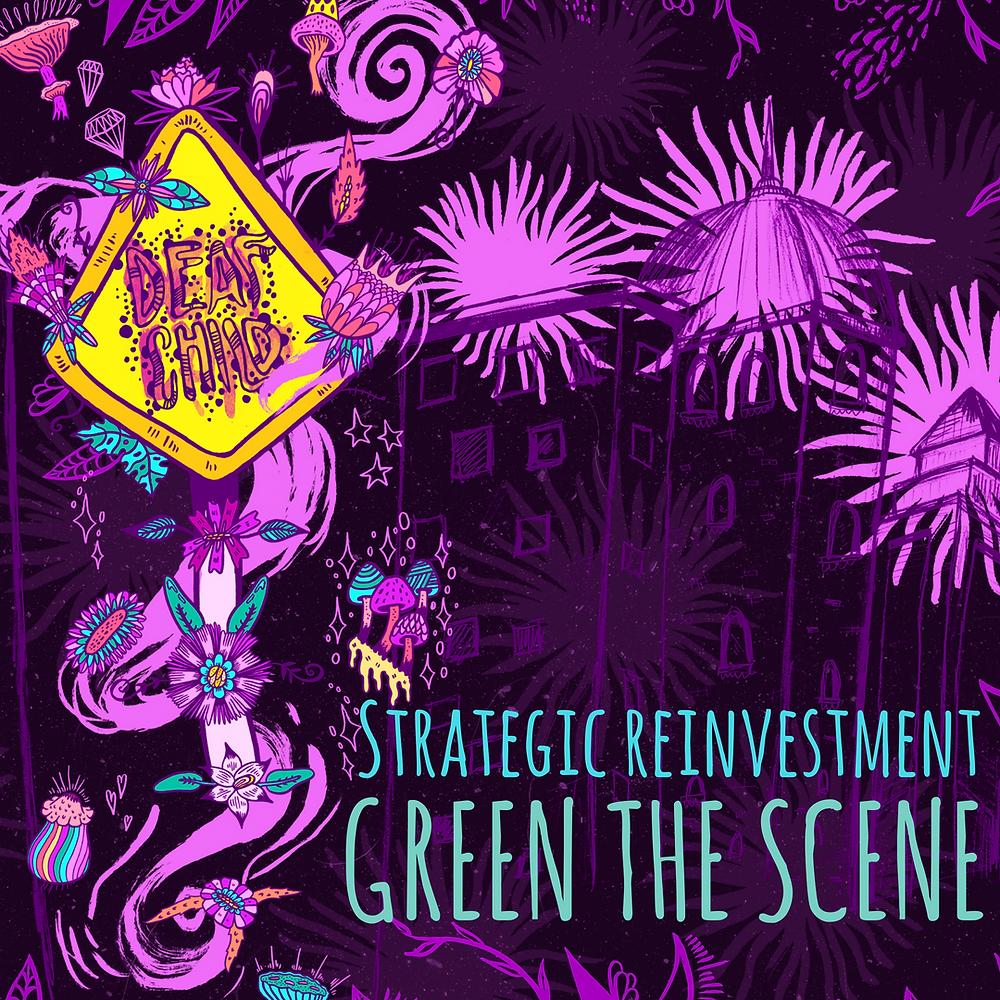 strategic reinvestment, green the scene, maya jevans illustrations