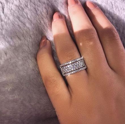 Diamonte double ring