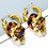 Thumbnail: Triple hoop dangle earrings