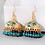 Thumbnail: Gold and turquoise dangle earrings