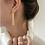 Thumbnail: Gorgeous long gold bar earrings