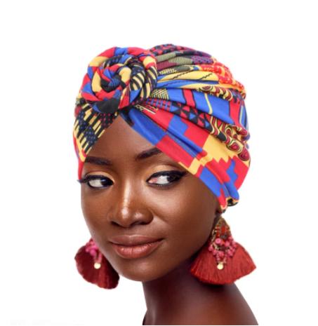 Multicolored turban