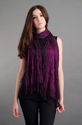 Rich prurple pashmina styled scarf