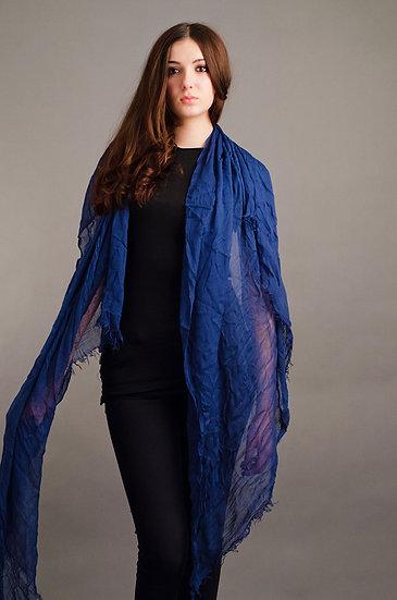 Lightweight blue scarf