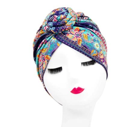 Gorgeous light blue twist headband