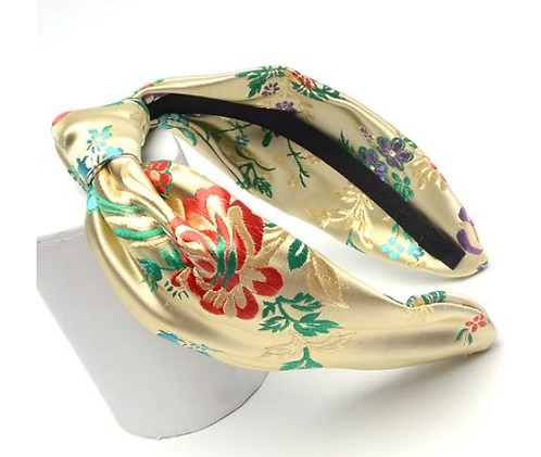 Gold oriental style turban headband