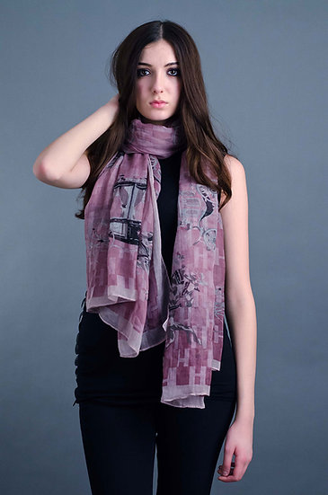 Gorgeous pink printed scarf