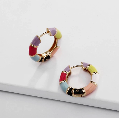 Gorgeous multi-colored hoops